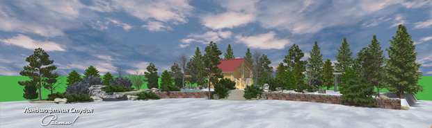 Лесной ландшафтный дизайн, пейзажный сад, капитан ленд, фото