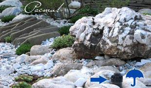 Камень в ландшафтном дизайне, фото рокариев, автополив